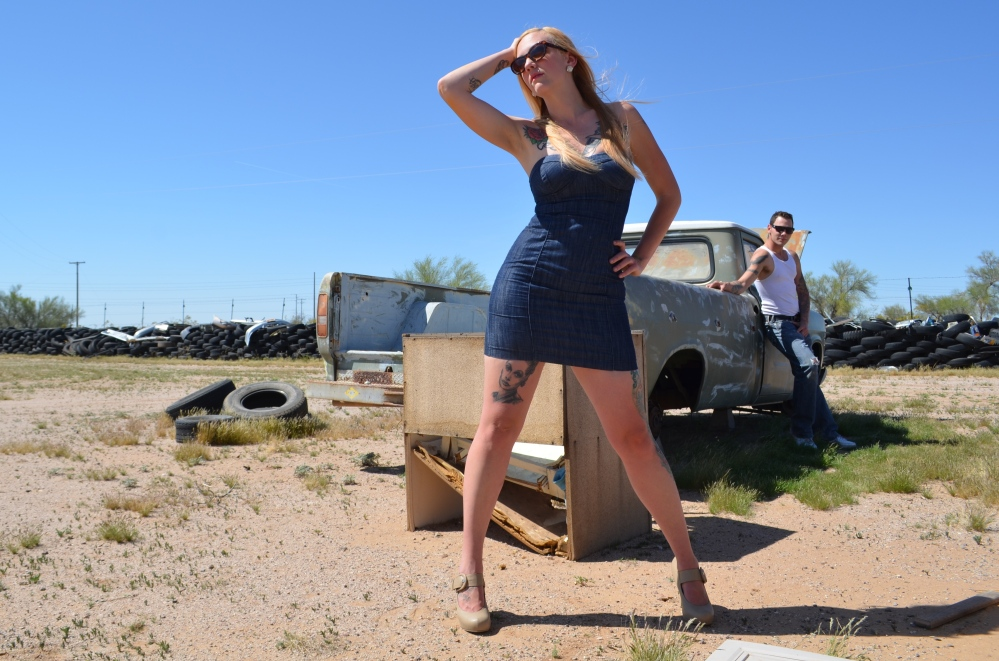 Aaron Oliver & Deanna Patrice at the Junkyard in Wittman, AZ