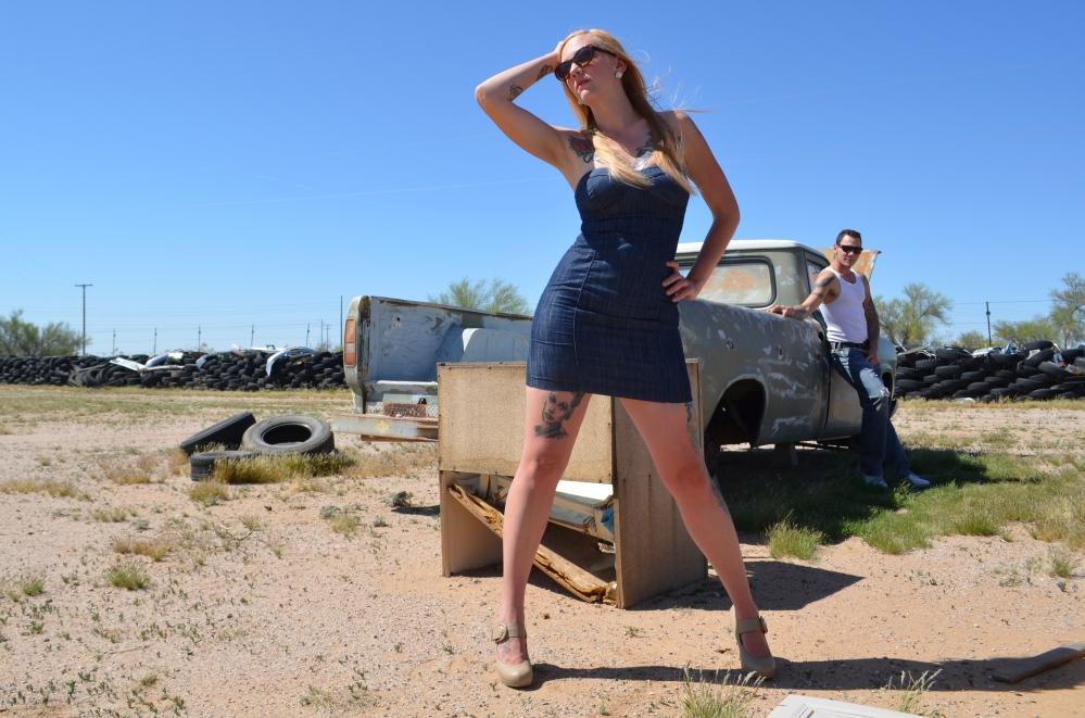 Aaron Oliver & Deanna Patrice at the Junkyard in Wittman, AZ